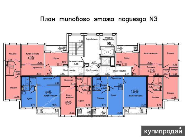 Покровский 6а 1-к квартира, 37 м2, 7/15 эт.