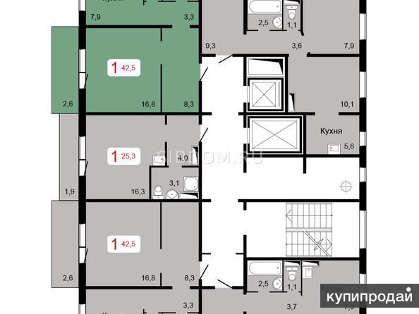 Петра Подзолкова1-к квартира, 25 м2, 7/16 эт.