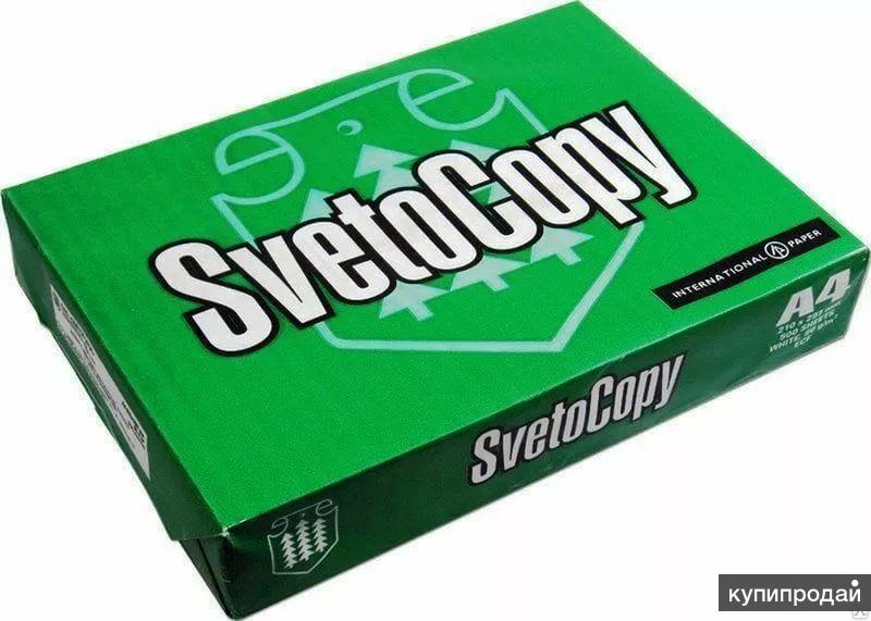 Бумага офисная А4 Svetocopy - Светокопи, 80 грамм, класс C - 500 листов
