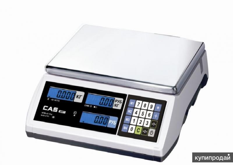 весы торговые новые ER JR-6CB RS (Корея)