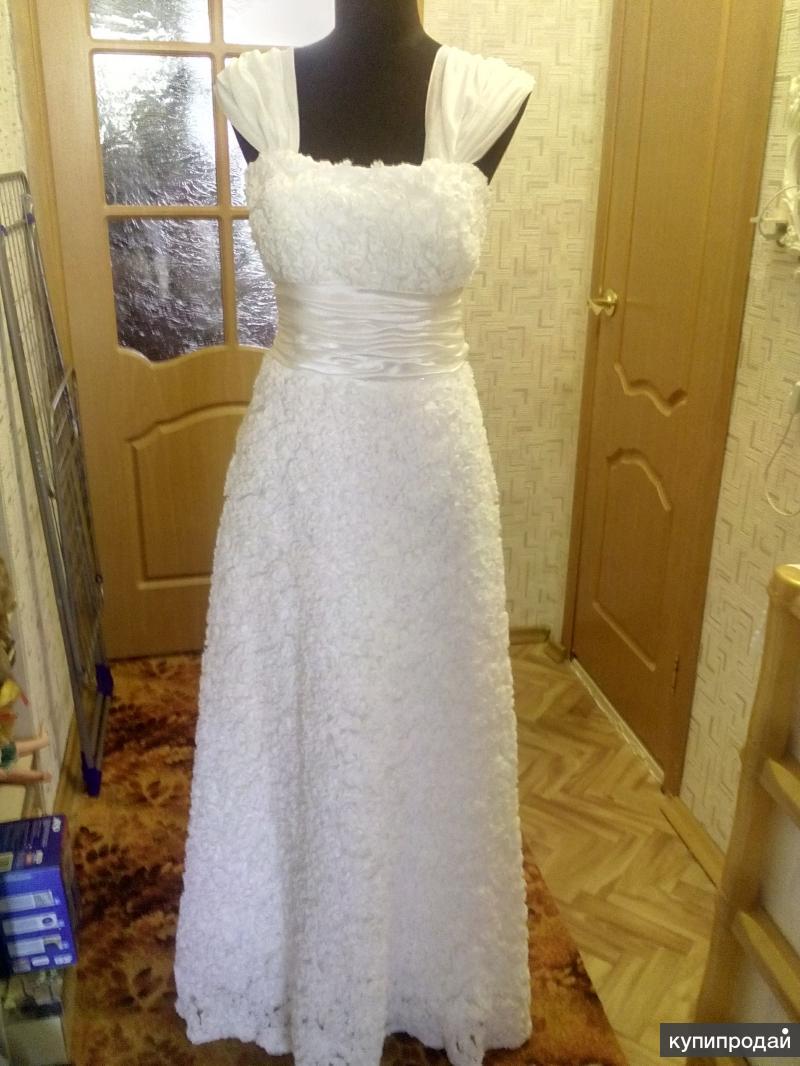 Платье свадебное, новое, р. 46-48