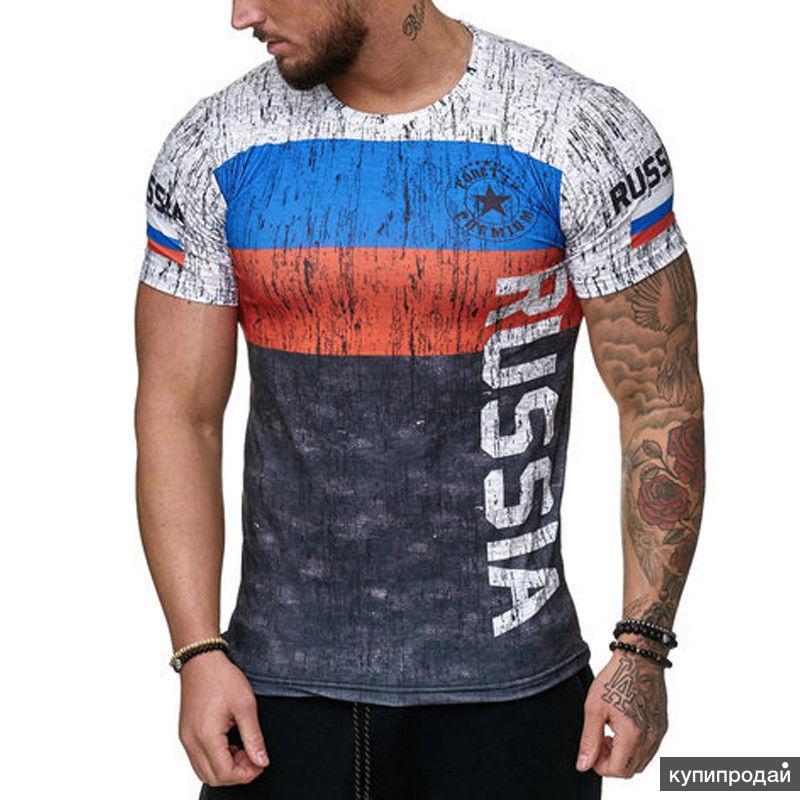 Футболка Россия RUSSIA флаг