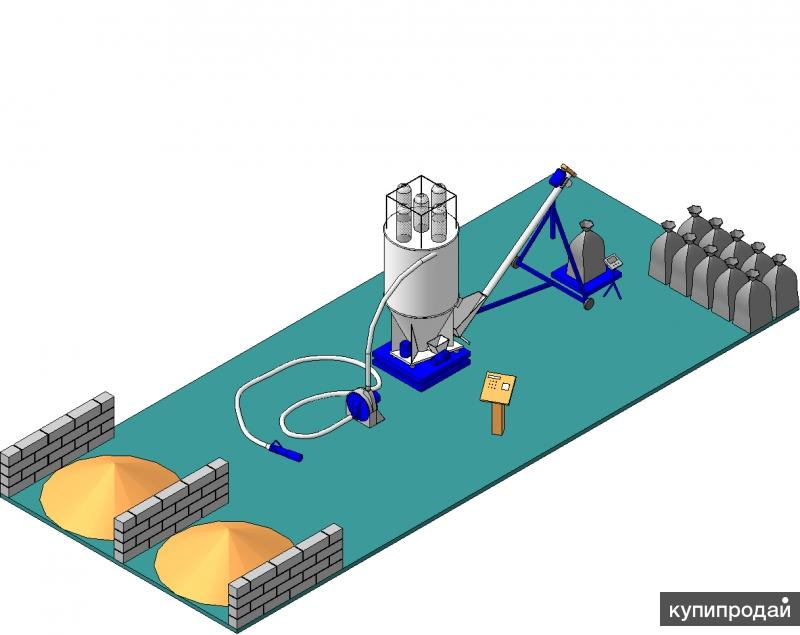 Комплекс по производству рассыпного комбикорма 1 т/час