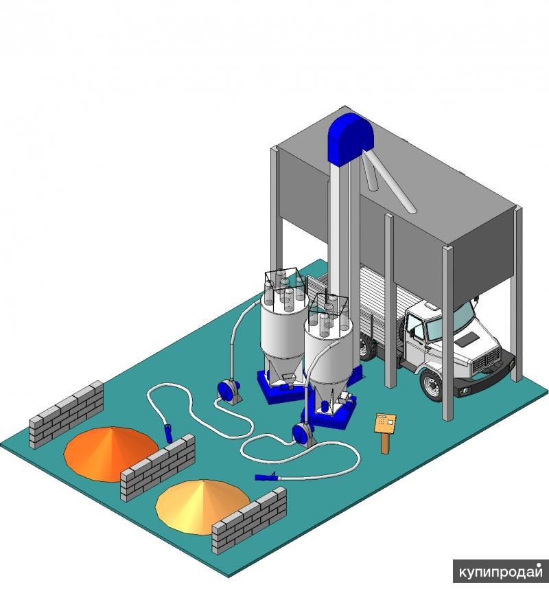 Комплекс по производству рассыпного комбикорма 5 т/час