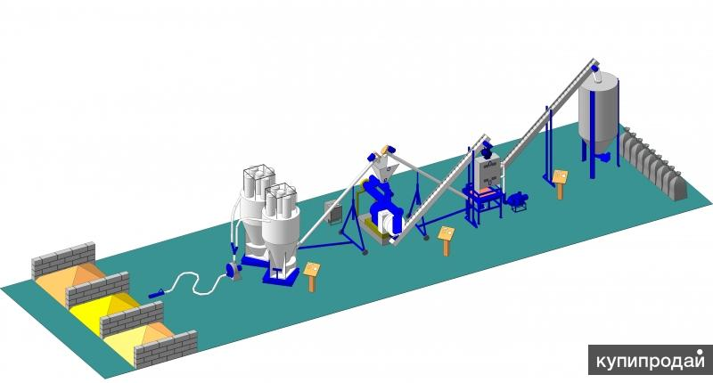 Линия по производству гранулированного комбикорма до 16 т/ч