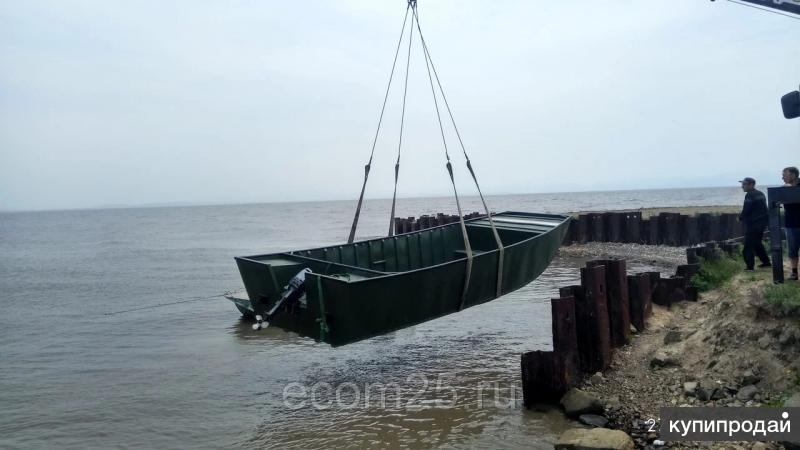 Лодка алюминиевая для промысла 8 м