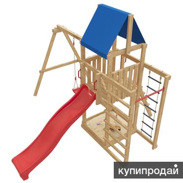 Детский игровой комплекс 8-й Элемент ДЕТСКАЯ ДЕРЕВЯННАЯ ИГРОВАЯ ПЛОЩАДКА