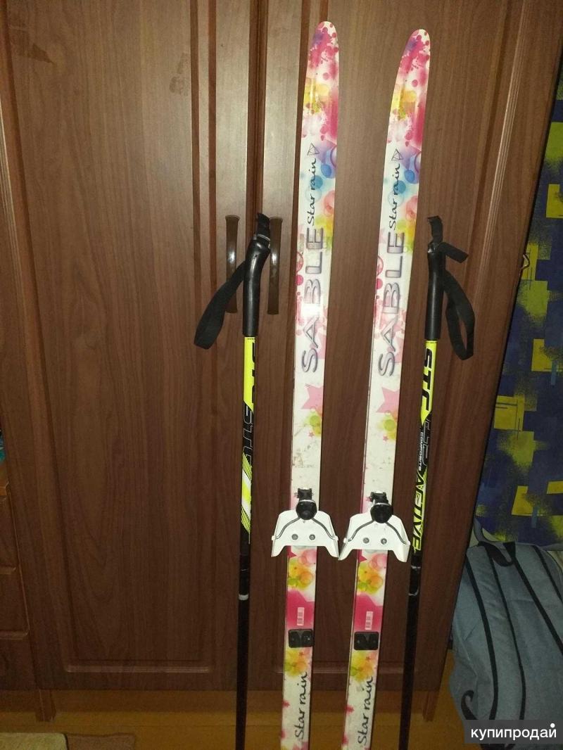 Лыжи детские(для девочек) с палками