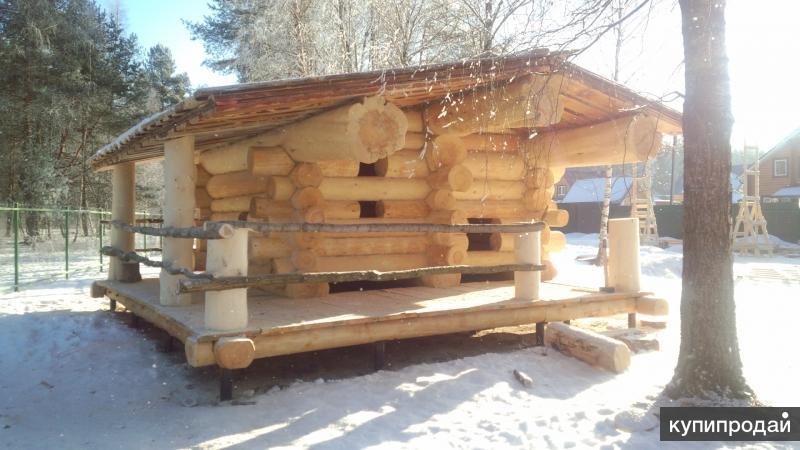 Деревянные дома и строительные материалы в Омске.
