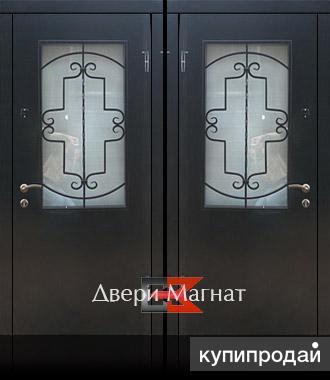 металлическая дверь со стеклом изготовление