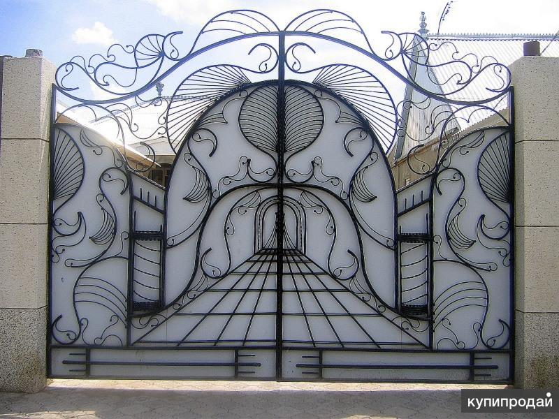 Ворота с гнутыми цены на ворота украина