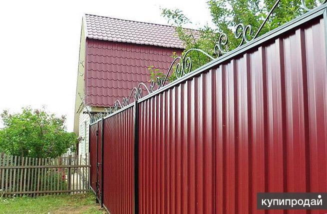 Заборы из профнастила цена серпухов привод раздвижные ворота