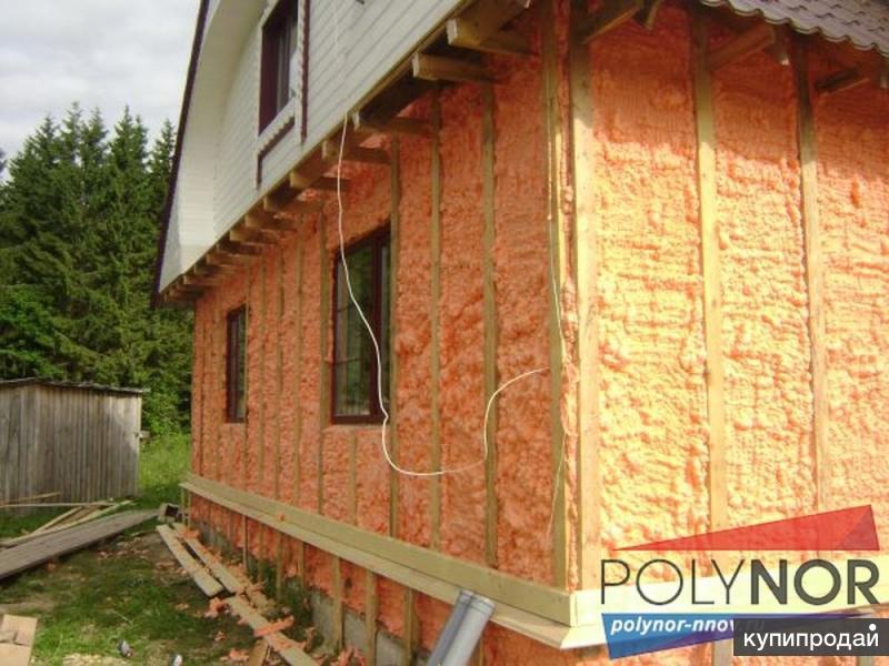 Утепление домов, фундаментов, ворот и т.п. Напыляемый утеплитель