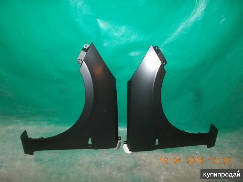 Переднее правое и левое крыло на Hyundai Solaris