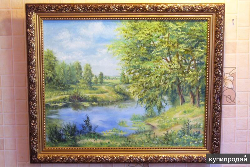 Яркие картины маслом с пейзажами для подарка