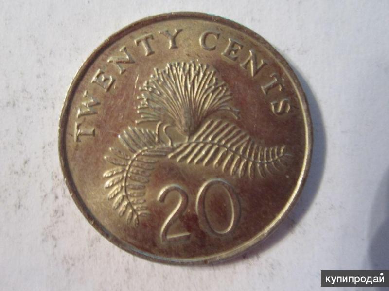 20 центов 1986 Сингапур