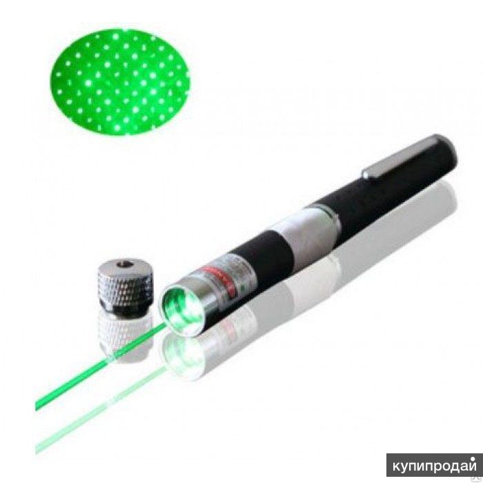 Лазерная указка зеленая 2 в одном