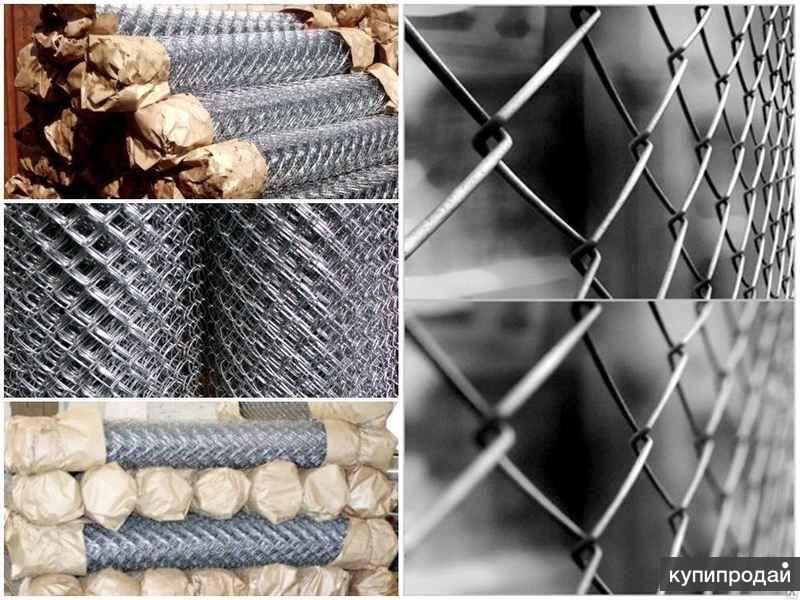 Сетка рабица от 20 до 100 ячейки, высота 1.5 м продажа от производителя в Барнау
