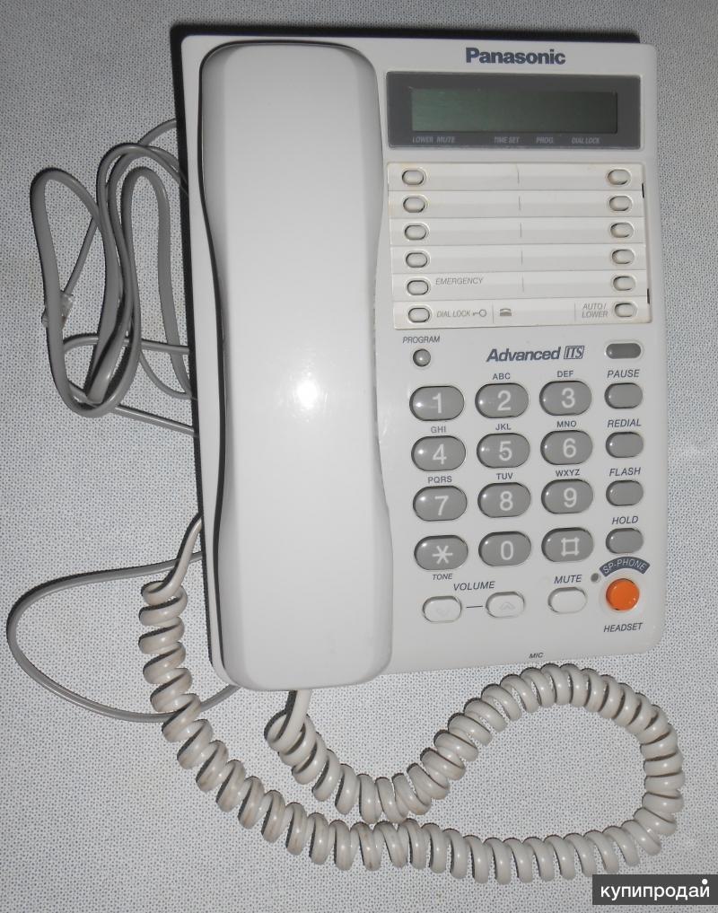 Телефон проводной Panasonic модель N KX-TS2365RUW