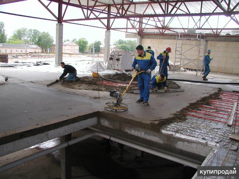 Устройство полов, стяжек (полусухие, бетонные, песчано-цементные)