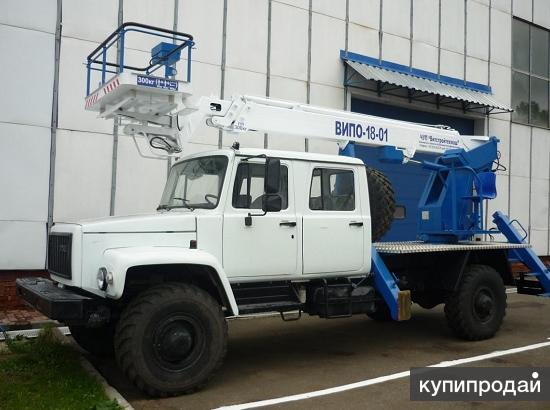 Автогидроподъемник ВИПО-18-01 на шасси ГАЗ-33081 (4х4) (5м. Каб)