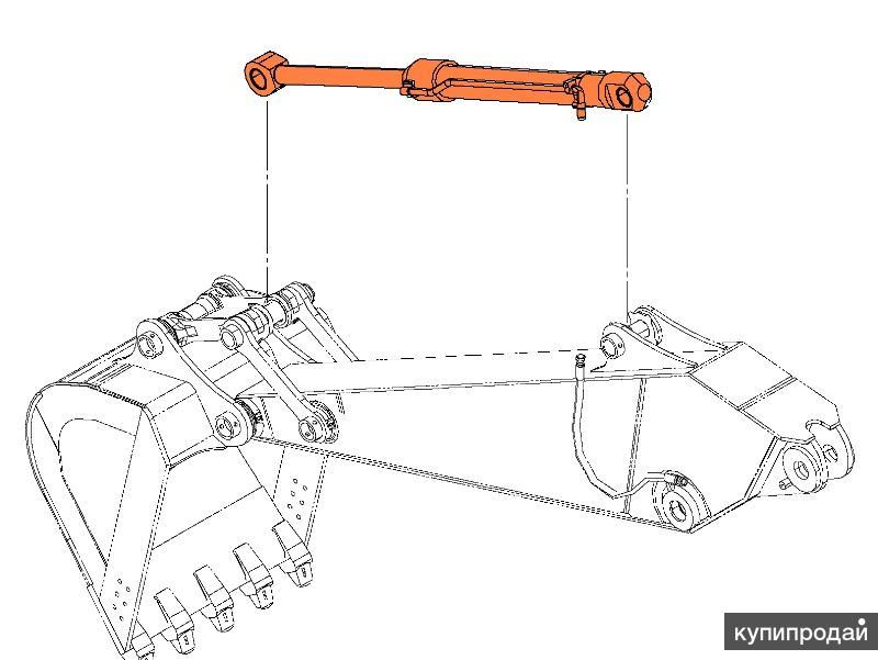 Гидроцилиндр ковша, рукояти, стрелы для Hyundai