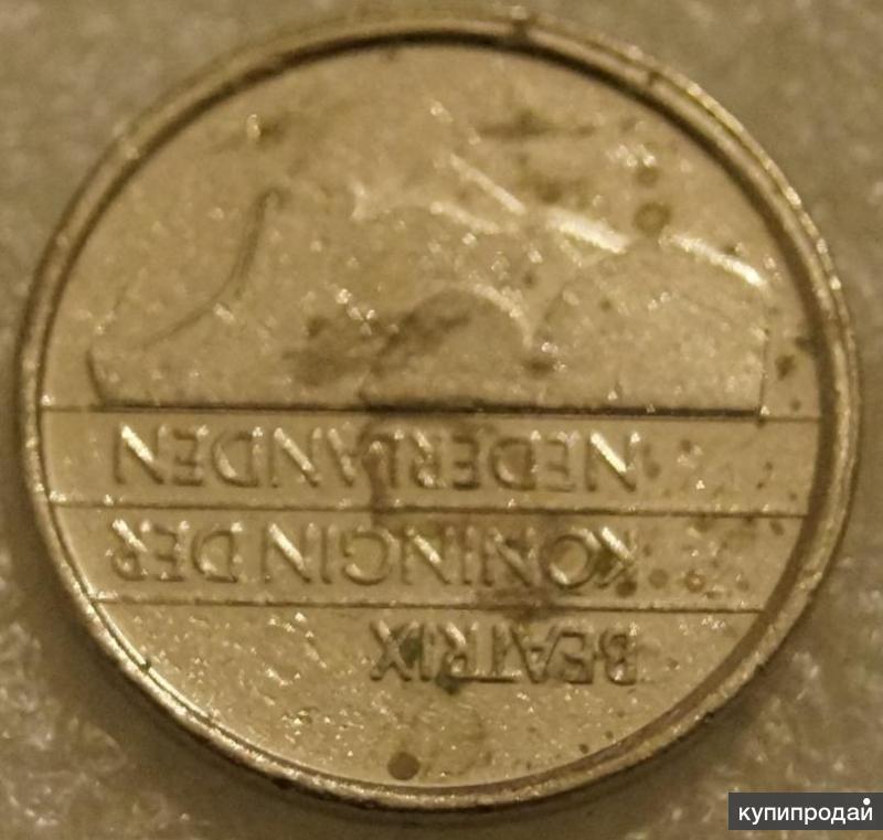 25 центов 1989 Нидерланды Голландия 25 центов 1989год