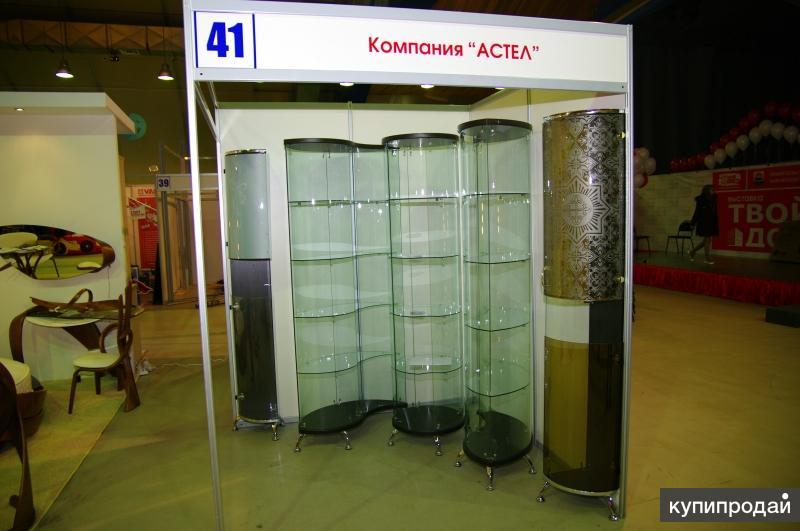 Гнутое стекло для мебели, торгового и холодильного оборудования. Витрины.