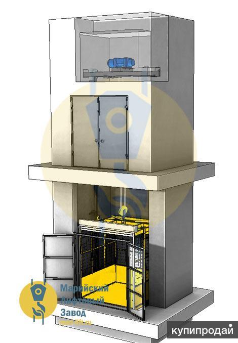 Грузовой подъёмник в шахте