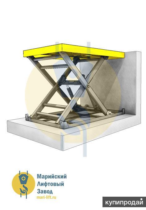 Гидравлический подъемник ножничного типа (подъемный стол)