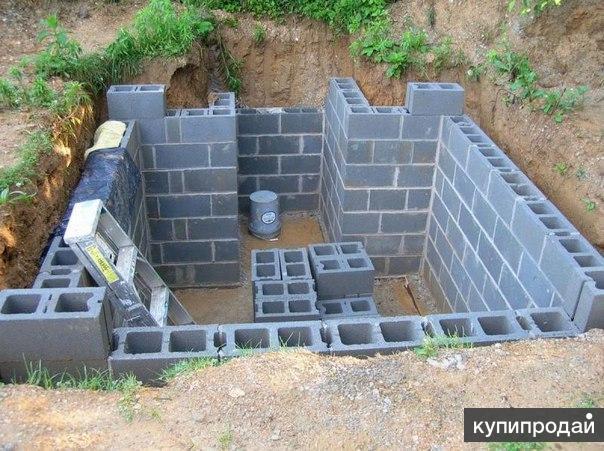 Монтаж погреба, подвала. Монолитные конструкции.