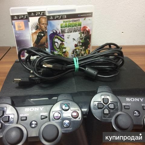 sonyPlaystation3  +4 игры,Приставка в отличном состоянии , два джойстика