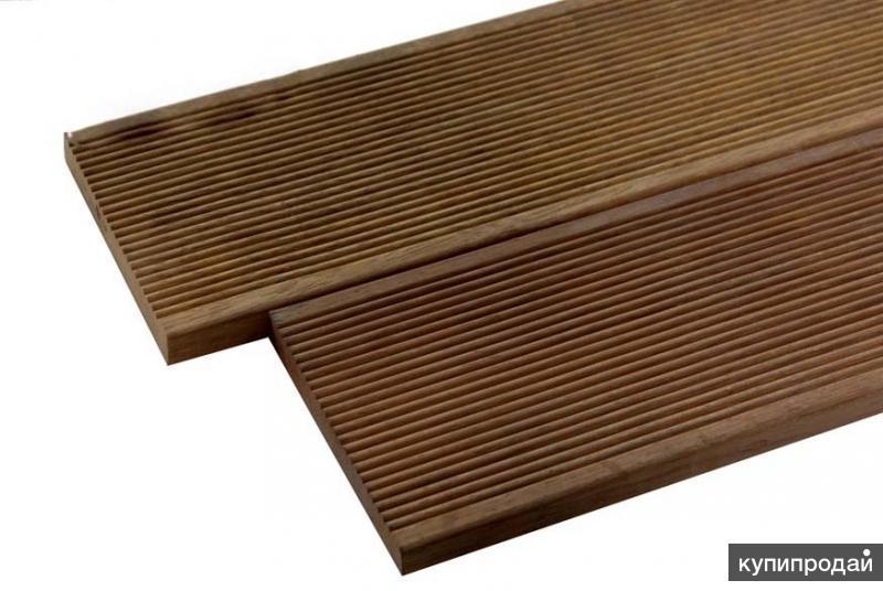 Террасная доска (палубная) ТермоБереза, сорт Экстра, Вельвет+Гладкая