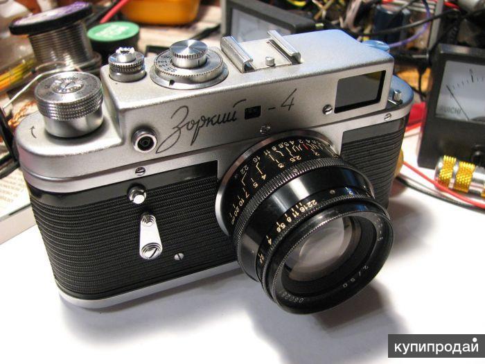 Редкость фотоаппарат Зоркий 4 1956 г. в. чехол кожаный чехол