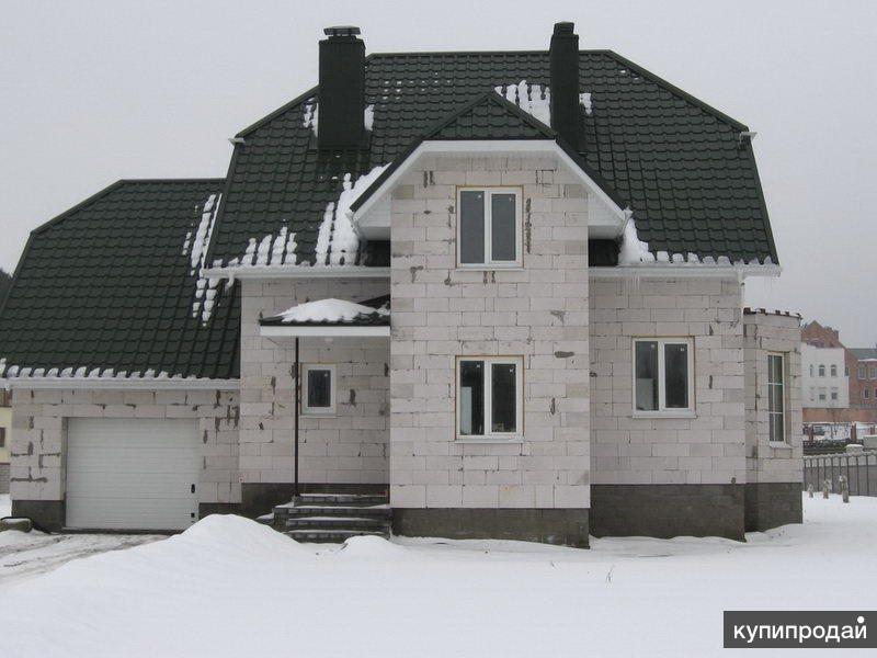 Строительство дома из пеноблоков.