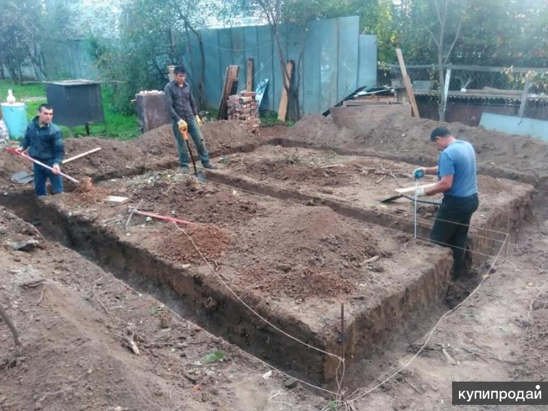Земляные работы, рытье котлован