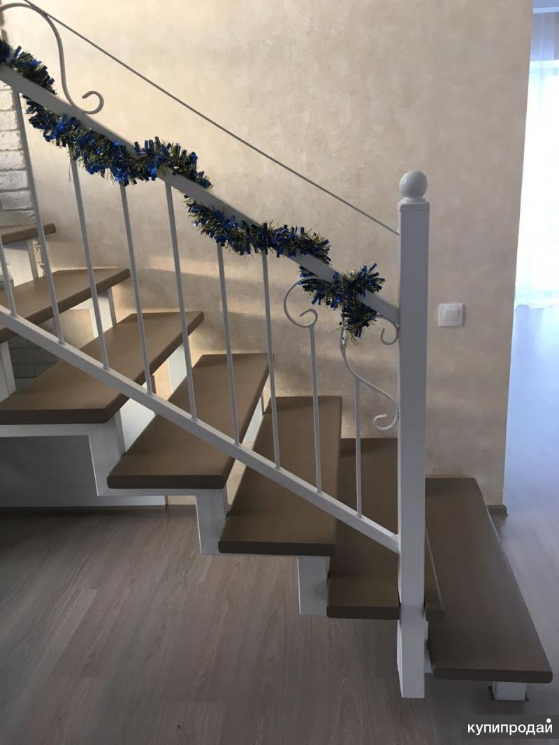 Лестницы на металлокаркасе эконом