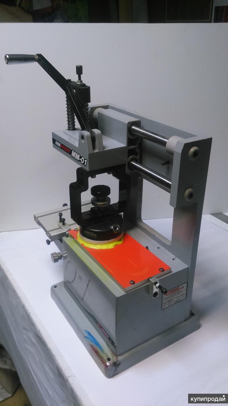 Ручной станок для тампопечати COMEC INKPRINT MM-01 (Италия) с закрытой красочной