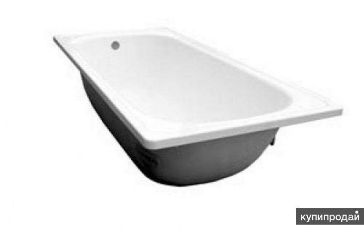 ванна металлическая эмалированная белая
