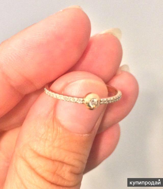 Золотое кольцо + 23 бриллианта