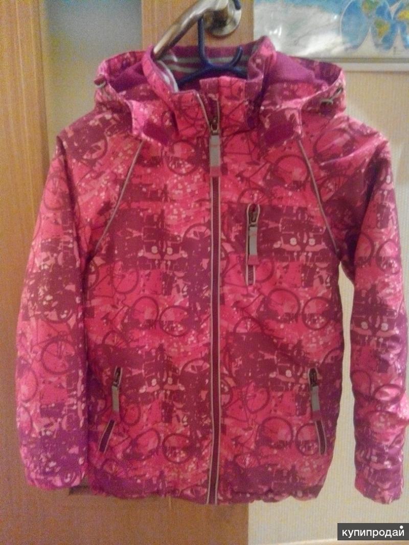 Куртка демисезонная для девочки, рост 128
