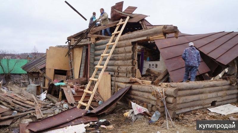 Слом ветхих строений. Слом дачных домов.