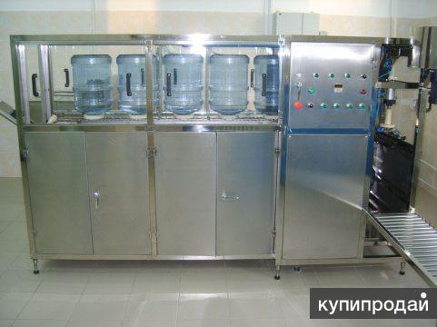 Линия розлива воды в 19 литровые бутыли, до 120 б/час