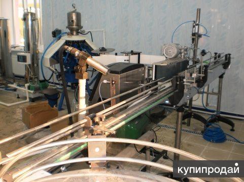 Линия розлива газ.воды и напитков ПЭТ-тару, 600 б/час