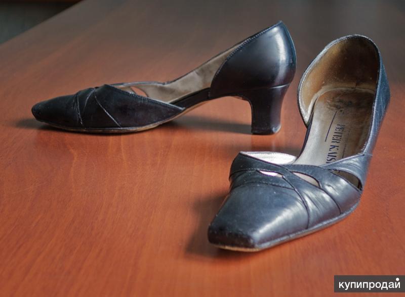 черные  туфли  из натур. кожи фирма Питер Кайзер