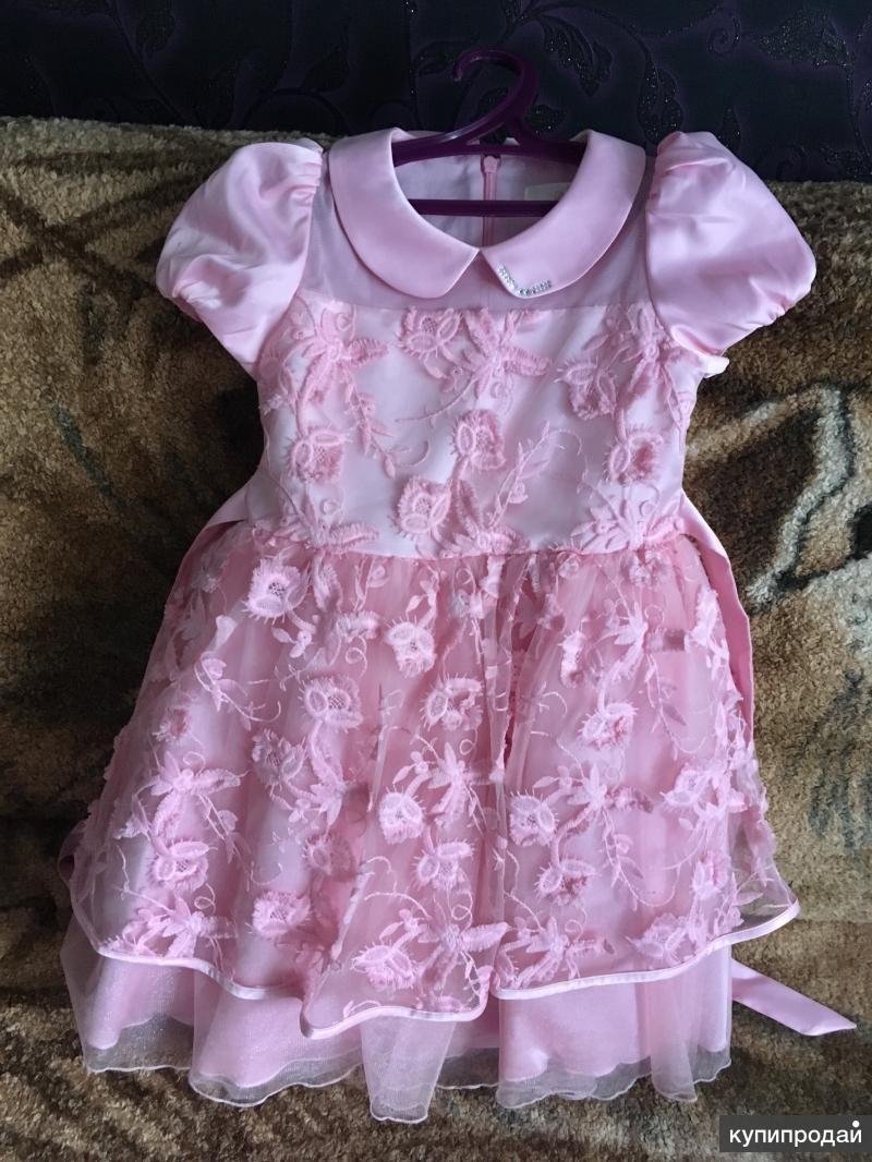 Платье детское розовое