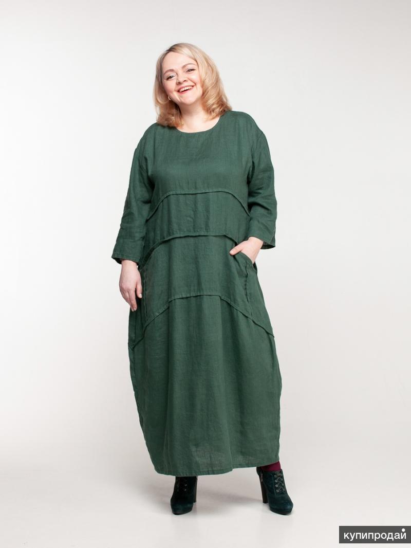 Платья из льна от производителя МАКОШЬ - эко одежда