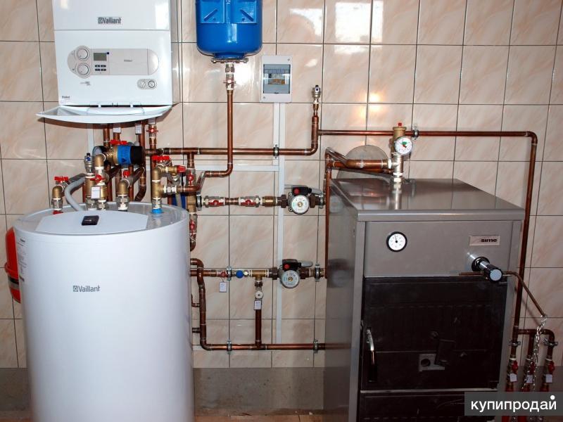 Монтаж отопления,водоснабжения и канализации