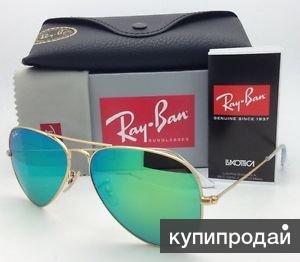 Очки Ray ban Gold Green
