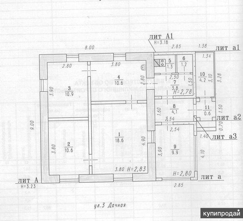 продаю кирпичный дом ул. 3 Дачная